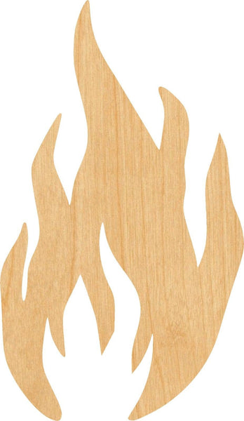 Fire 1 Wooden Laser Cut Out Shape - Great for Crafting - Hobbyist - D.I.Y. Projects
