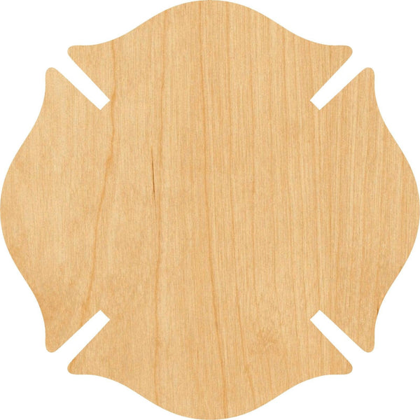 Fireman Badge Wooden Laser Cut Out Shape - Great for Crafting - Hobbyist - D.I.Y. Projects