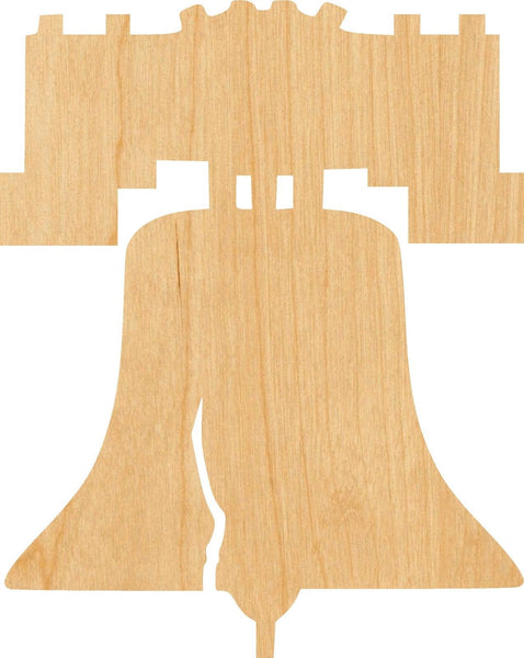Liberty Bell 2 Wooden Laser Cut Out Shape - Great for Crafting - Hobbyist - D.I.Y. Projects