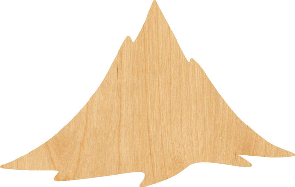 Mountain Wooden Laser Cut Out Shape - Great for Crafting - Hobbyist - D.I.Y. Projects