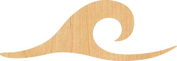 Ocean Wave Wooden Laser Cut Out Shape - Great for Crafting - Hobbyist - D.I.Y. Projects