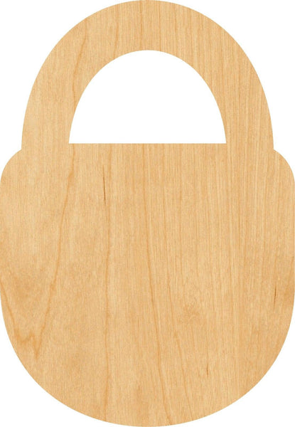 Padlock Wooden Laser Cut Out Shape - Great for Crafting - Hobbyist - D.I.Y. Projects
