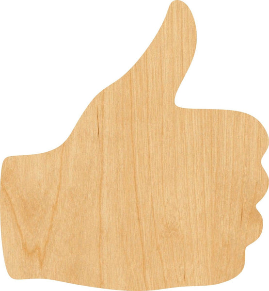 Thumbs Up Wooden Laser Cut Out Shape - Great for Crafting - Hobbyist - D.I.Y. Projects