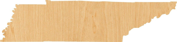 Tennessee Wooden Laser Cut Out Shape - Great for Crafting - Hobbyist - D.I.Y. Projects