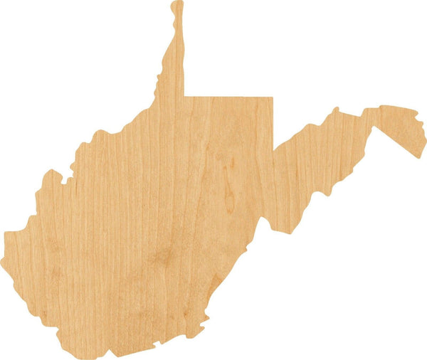West Virginia Wooden Laser Cut Out Shape - Great for Crafting - Hobbyist - D.I.Y. Projects
