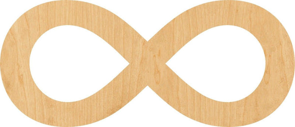 Infinity Symbol Wooden Laser Cut Out Shape - Great for Crafting - Hobbyist - D.I.Y. Projects