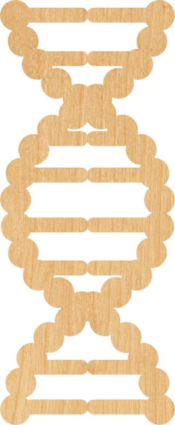 DNA Wooden Laser Cut Out Shape - Great for Crafting - Hobbyist - D.I.Y. Projects