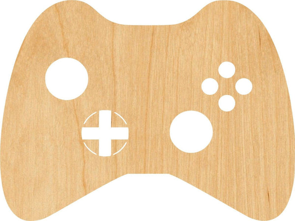 Game Controller Wooden Laser Cut Out Shape - Great for Crafting - Hobbyist - D.I.Y. Projects