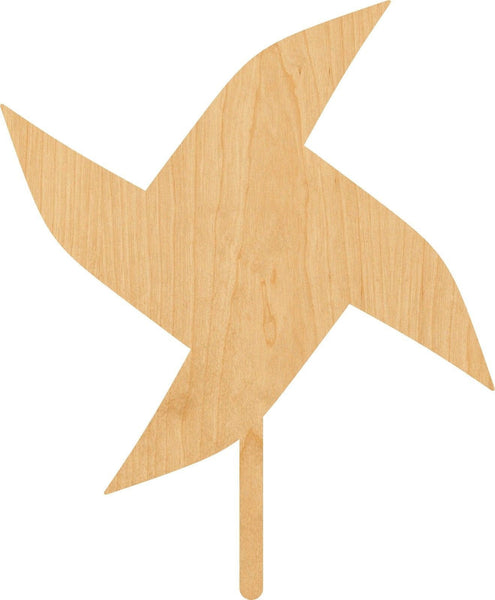Pinwheel Wooden Laser Cut Out Shape - Great for Crafting - Hobbyist - D.I.Y. Projects
