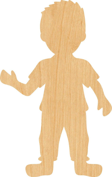 Boy Wooden Laser Cut Out Shape - Great for Crafting - Hobbyist - D.I.Y. Projects