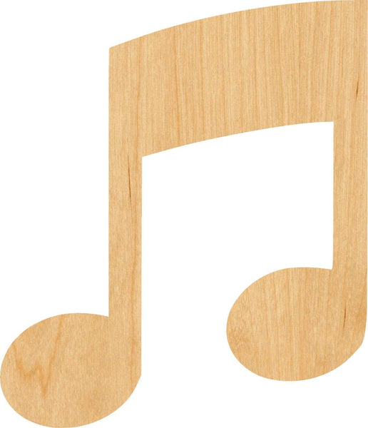 Music Note 5 Pick Wooden Laser Cut Out Shape - Great for Crafting - Hobbyist - D.I.Y. Projects