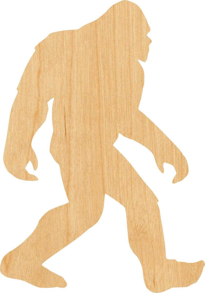 Bigfoot 3 Pick Wooden Laser Cut Out Shape - Great for Crafting - Hobbyist - D.I.Y. Projects