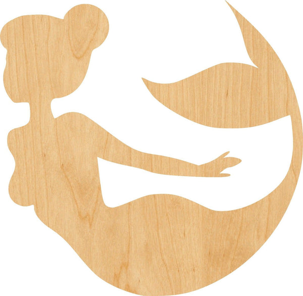 Mermaid 5 Wooden Laser Cut Out Shape - Great for Crafting - Hobbyist - D.I.Y. Projects