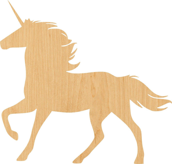 Unicorn 2 Wooden Laser Cut Out Shape - Great for Crafting - Hobbyist - D.I.Y. Projects