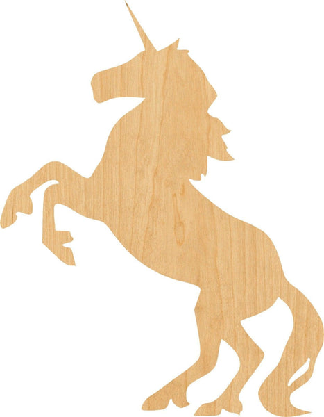 Unicorn 3 Wooden Laser Cut Out Shape - Great for Crafting - Hobbyist - D.I.Y. Projects
