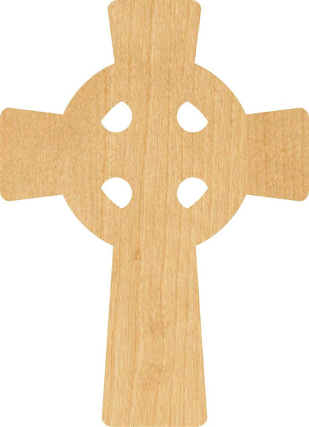 Celtic Cross 1 Wooden Laser Cut Out Shape - Great for Crafting - Hobbyist - D.I.Y. Projects