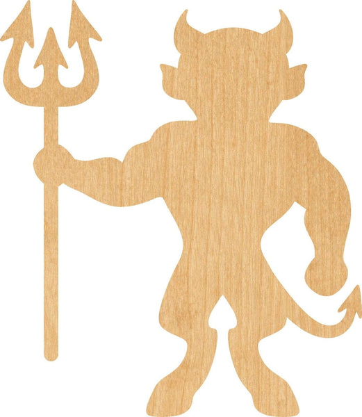 Devil Wooden Laser Cut Out Shape - Great for Crafting - Hobbyist - D.I.Y. Projects