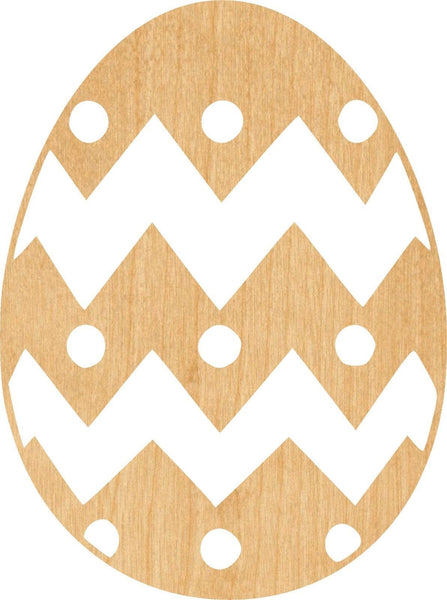 Easter Egg Wooden Laser Cut Out Shape - Great for Crafting - Hobbyist - D.I.Y. Projects