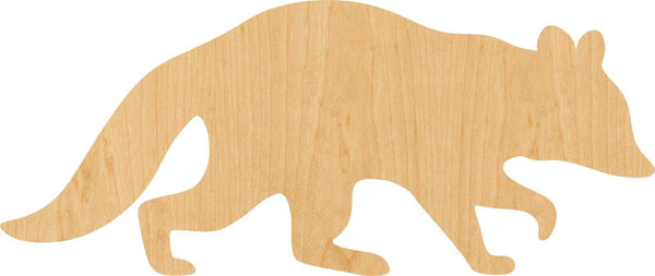 Raccoon 2 Wooden Laser Cut Out Shape - Great for Crafting - Hobbyist - D.I.Y. Projects