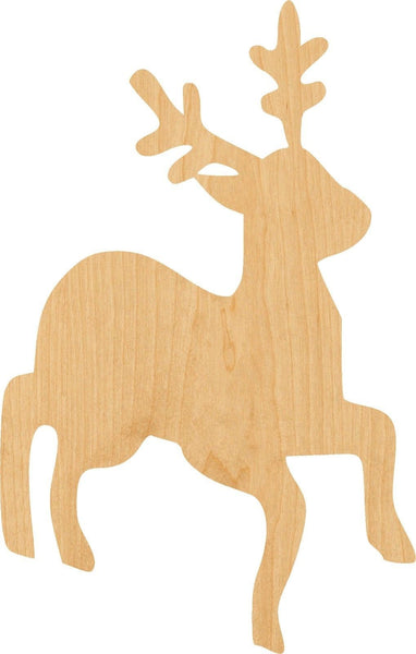 Reindeer 2 Wooden Laser Cut Out Shape - Great for Crafting - Hobbyist - D.I.Y. Projects
