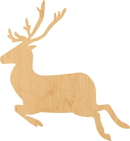 Running Buck Wooden Laser Cut Out Shape - Great for Crafting - Hobbyist - D.I.Y. Projects