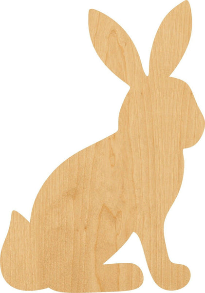 Sitting Bunny Wooden Laser Cut Out Shape - Great for Crafting - Hobbyist - D.I.Y. Projects