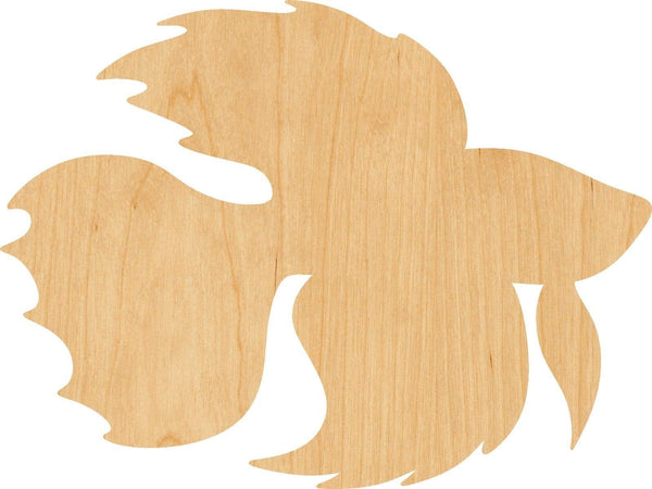 Betta Fish Wooden Laser Cut Out Shape - Great for Crafting - Hobbyist - D.I.Y. Projects