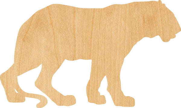 Cougar Wooden Laser Cut Out Shape - Great for Crafting - Hobbyist - D.I.Y. Projects
