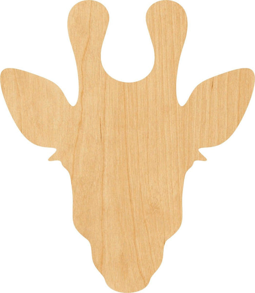Giraffe Head Wooden Laser Cut Out Shape - Great for Crafting - Hobbyist - D.I.Y. Projects