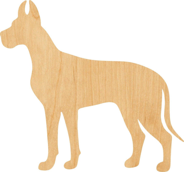 Great Dane Wooden Laser Cut Out Shape - Great for Crafting - Hobbyist - D.I.Y. Projects
