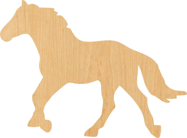 Horse Wooden Laser Cut Out Shape - Great for Crafting - Hobbyist - D.I.Y. Projects