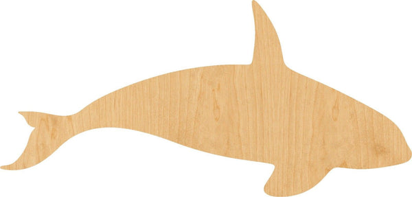 Killer Whale Wooden Laser Cut Out Shape - Great for Crafting - Hobbyist - D.I.Y. Projects