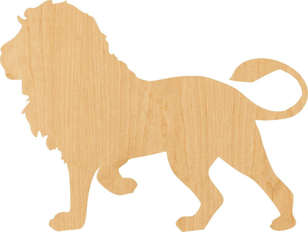 Lion 2 Wooden Laser Cut Out Shape - Great for Crafting - Hobbyist - D.I.Y. Projects