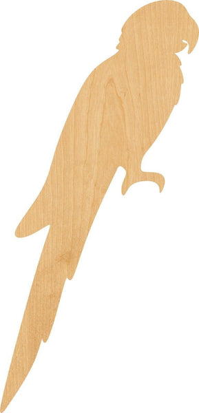 Macaw Wooden Laser Cut Out Shape - Great for Crafting - Hobbyist - D.I.Y. Projects