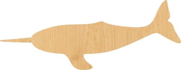Narwhal Wooden Laser Cut Out Shape - Great for Crafting - Hobbyist - D.I.Y. Projects