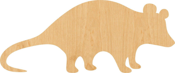 Opossum Wooden Laser Cut Out Shape - Great for Crafting - Hobbyist - D.I.Y. Projects