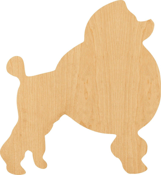 Poodle Wooden Laser Cut Out Shape - Great for Crafting - Hobbyist - D.I.Y. Projects