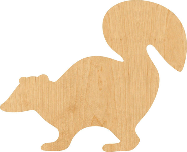 Skunk Wooden Laser Cut Out Shape - Great for Crafting - Hobbyist - D.I.Y. Projects