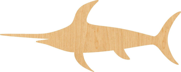 Sword Fish  Wooden Laser Cut Out Shape - Great for Crafting - Hobbyist - D.I.Y. Projects