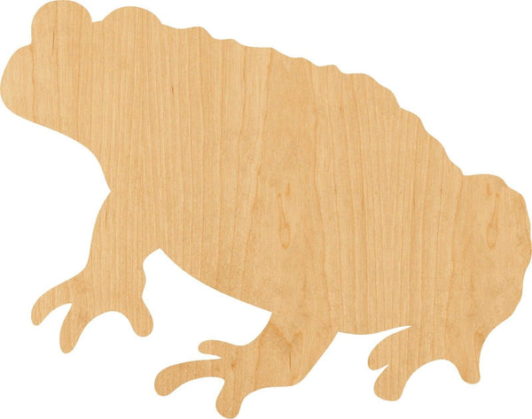 Toad Wooden Laser Cut Out Shape - Great for Crafting - Hobbyist - D.I.Y. Projects