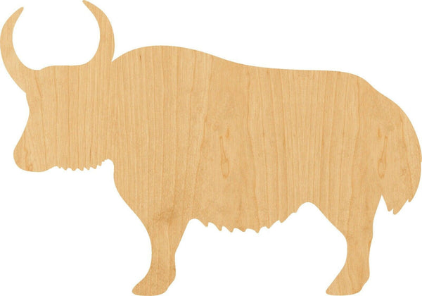 Yak Wooden Laser Cut Out Shape - Great for Crafting - Hobbyist - D.I.Y. Projects