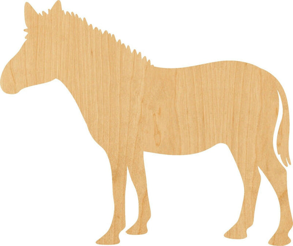 Zebra Wooden Laser Cut Out Shape - Great for Crafting - Hobbyist - D.I.Y. Projects