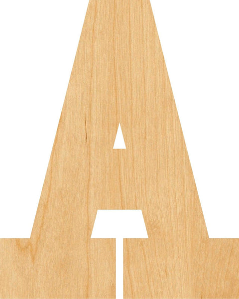 Letter A Wooden Laser Cut Out Shape - Great for Crafting - Hobbyist - D.I.Y. Projects