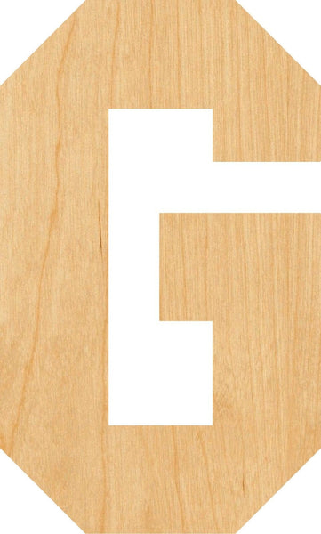 Letter G Wooden Laser Cut Out Shape - Great for Crafting - Hobbyist - D.I.Y. Projects