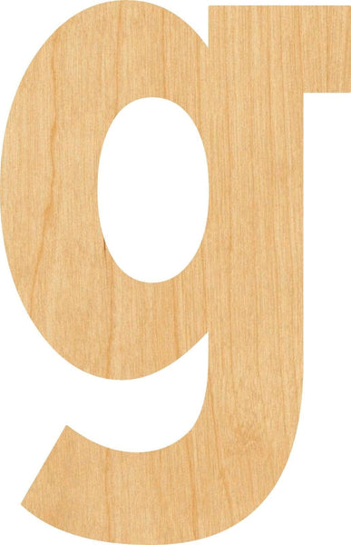 Lowercase Letter g Wooden Laser Cut Out Shape - Great for Crafting - Hobbyist - D.I.Y. Projects