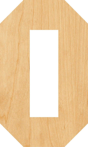 Number 0 Wooden Laser Cut Out Shape - Great for Crafting - Hobbyist - D.I.Y. Projects