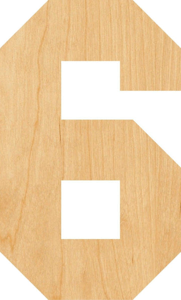 Number 6 Wooden Laser Cut Out Shape - Great for Crafting - Hobbyist - D.I.Y. Projects