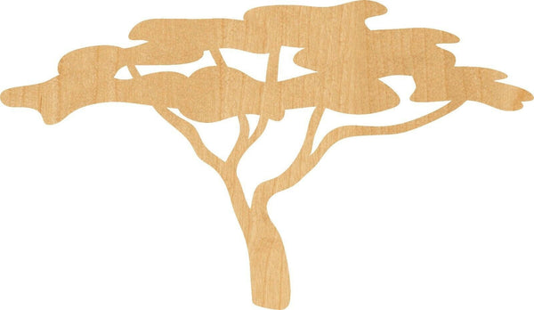 African Tree Wooden Laser Cut Out Shape - Great for Crafting - Hobbyist - D.I.Y. Projects