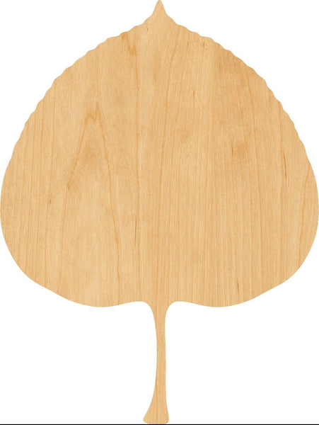 Aspen Leaf Wooden Laser Cut Out Shape - Great for Crafting - Hobbyist - D.I.Y. Projects