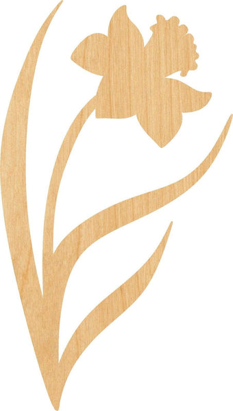 Daffodil Wooden Laser Cut Out Shape - Great for Crafting - Hobbyist - D.I.Y. Projects